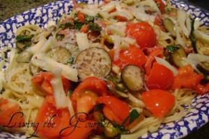 Fresh Garden Veggies with Pasta
