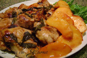 Chicken with Peaches & Fresh Basil