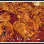 BBQ Chicken Thighs with a Living the Gourmet Twist by Catherine's daughter