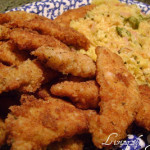 Chicken Strips with Tasty Rice!