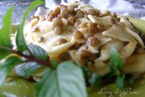 Garlicky Lentil Salad with Macaroni