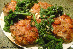 Stuffed Breaded Pork Chops with Tomato Sauce