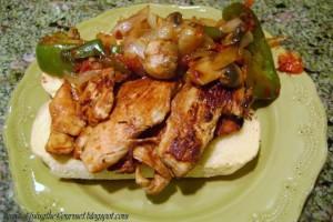 Grilled Chicken Breast Sandwich with Veggies