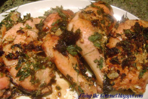 Baked Chicken with Lemon & Garlic