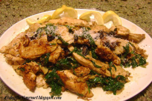 Simple Lemon Chicken with Bread Crumbs
