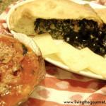 Spinach Calzones with Homemade Marinara Sauce