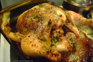 Roasted Oven Stuffer Chicken