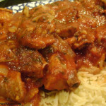 Brined Spareribs with Zesty Tomato Sauce