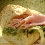Kicked Up Broccoli Rabe & Ham Hero!