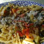 Fresh Tomatoes, Zucchini and Artichokes with Macaroni!!