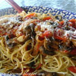 Fresh Garden Tomato Sauce with Grilled Button Mushrooms!!!