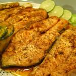 Fresh Salmon Steaks with Warm Mango Salsa!!!