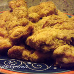 Oven Baked Boneless Chicken Thighs with Cracker and Cornmeal Crumbs!!!