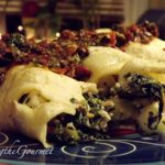 Crepes Stuffed with Spinach, Feta and Apples
