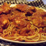 Sweet Chicken with Crushed Tomatoes Sauce and Spaghetti!!!