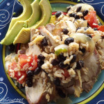 ~ Roast Pork with Black Beans and Rice ~