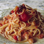 ~ Rustic Tomato Sauce with Roasted Peppers and Cannellini Beans ~