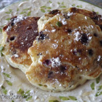 ~ Blueberry and Basil Pancakes with Ginger and Lemon Zest Syrup ~