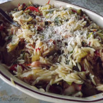 ~ Grilled Chicken Strips with Orzo Salad ~