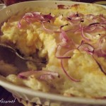 ~ Mashed Potatoes with Cheddar Cheese Bake ~