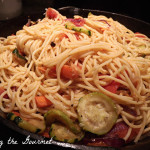 Fresh Tomatoes with Grilled Veggies and Spaghetti