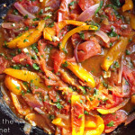 Sautéed Peppers with Tomatoes