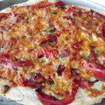 Homemade Pizza with Sweet and Spicy Sauce