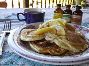 Vanilla Pancakes with Apples featuring Neilsen Massey Vanilla