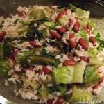 Sautéed Romaine with Beans and Rice