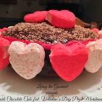 Dark Chocolate Cake featuring Valentine's Day Peeps Marshmallows