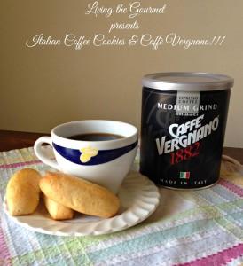Italian Coffee Cookies featuring Caffè Vergnano