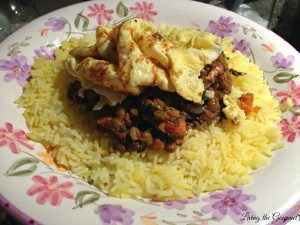 Eggs with Lentils and Rice