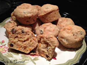 Light Carrot and Raisin Breakfast Muffins