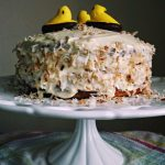 Easter Carrot Cake Featuring Peeps Marshmallows