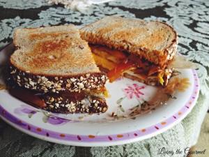 Egg Sandwich with Spiced Sautéed Onions