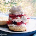 Strawberries & Cream with Rosemary Shortcakes