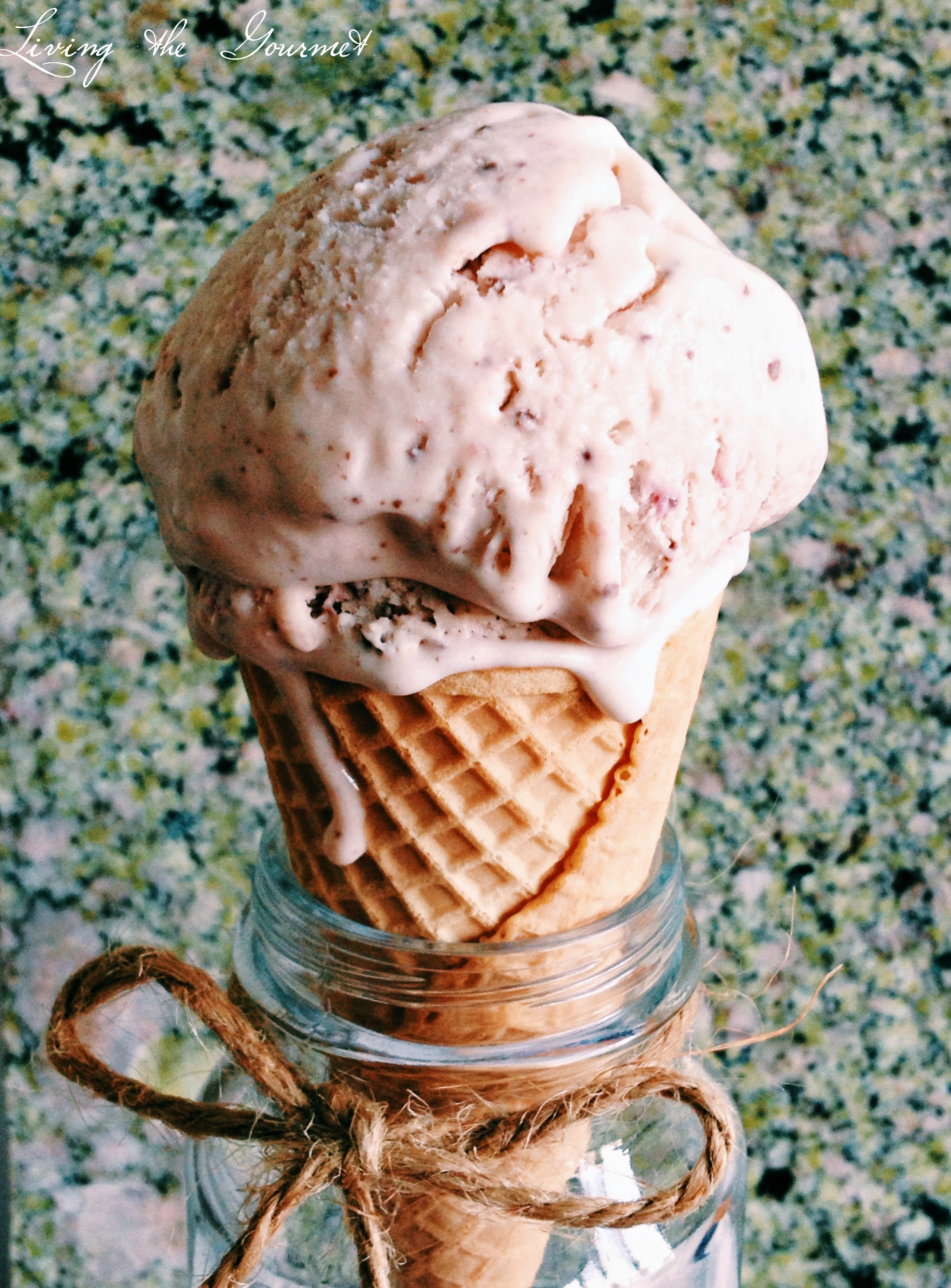 Strawberry & Chocolate Ice Cream {No-Churn}