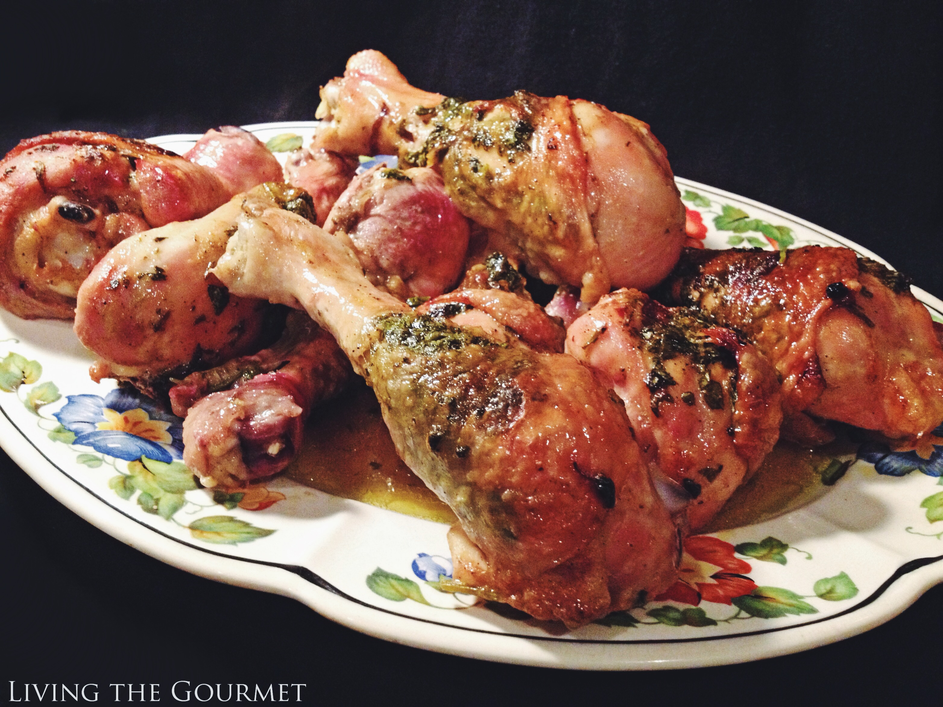 Living the Gourmet: Stuffed Chicken Legs