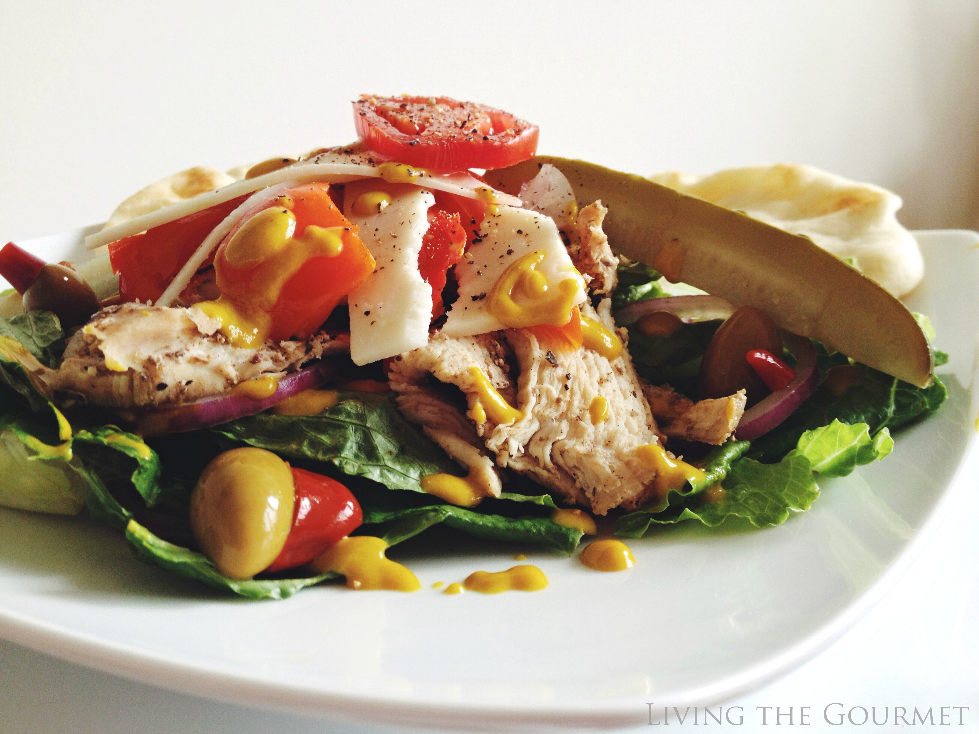 Living the Gourmet: Easy & Light Chicken Salad with Fresh Salad Greens