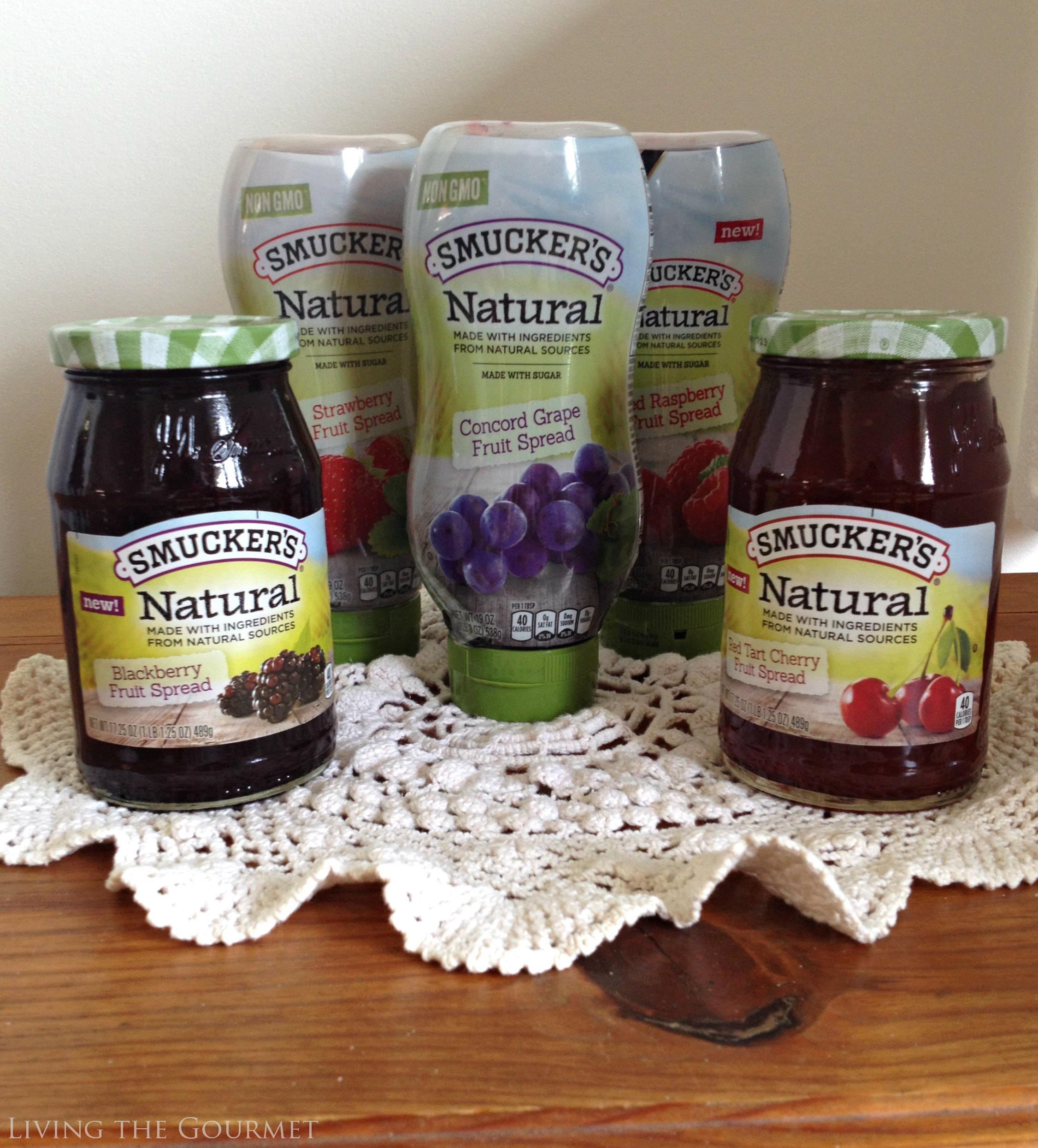 {no-churn} vanilla-molasses ice cream sandwiches featuring smucker's natural fruit spreads