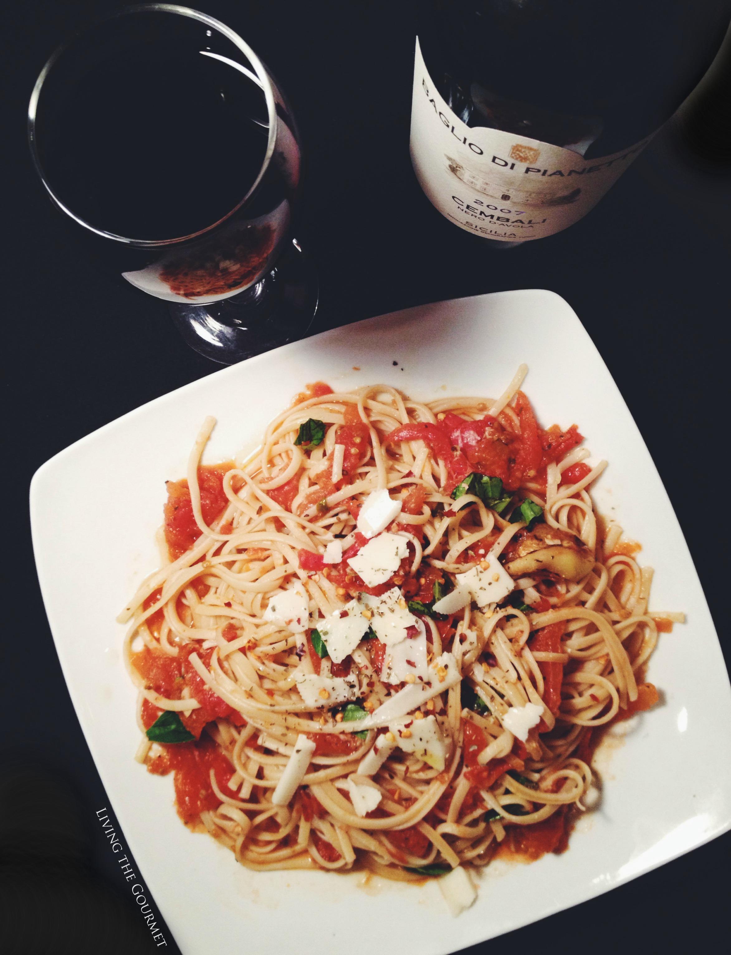 Fresh Tomato Sauce w/ Sautéed Zucchini & Spaghetti {Featuring Baglio ...