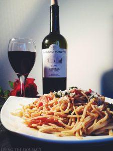 Fresh Tomato Sauce w/ Sautéed Zucchini & Spaghetti {Featuring Baglio Di Pianetto Wines}