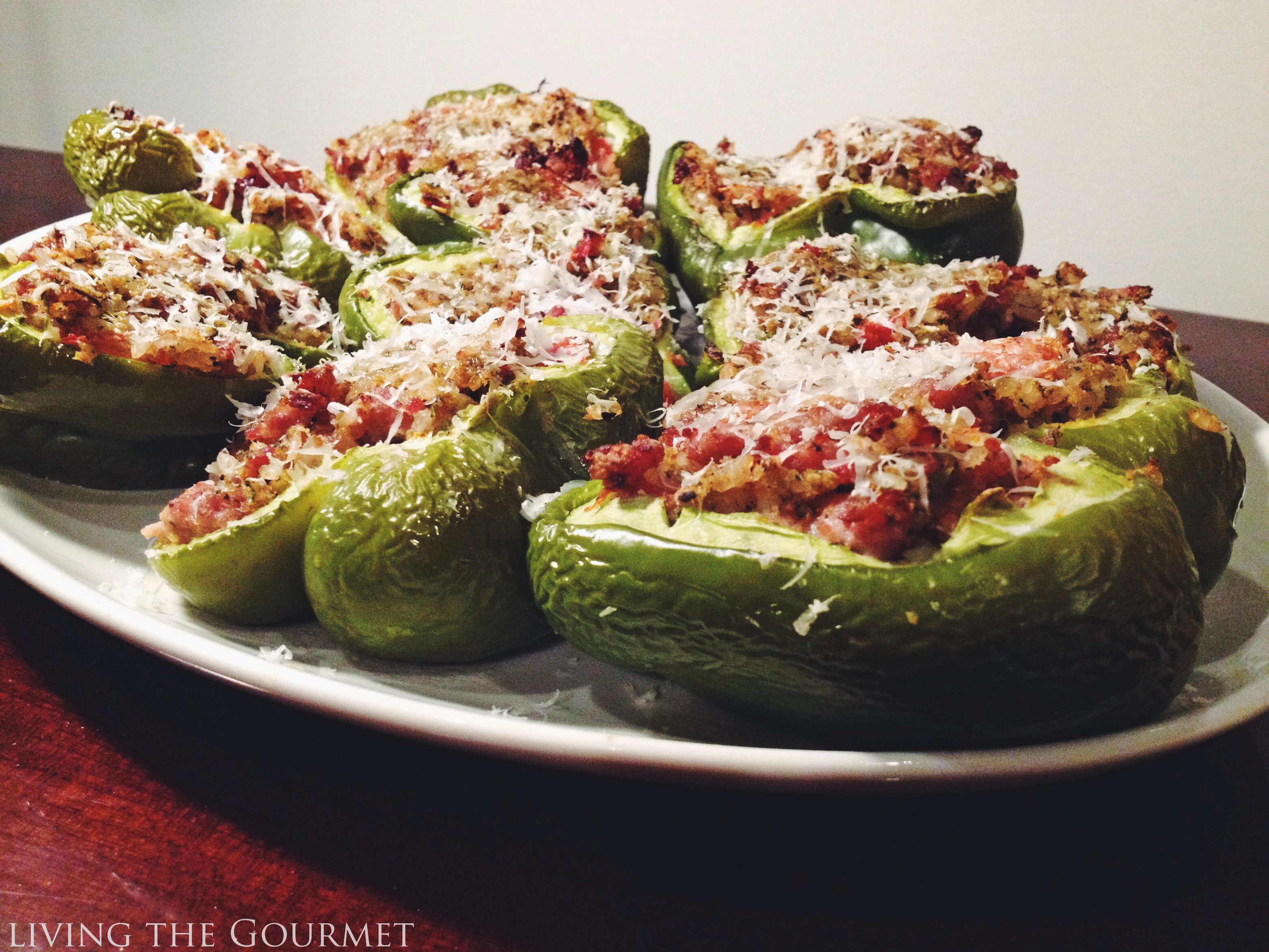 Living the Gourmet: Stuffed Peppers