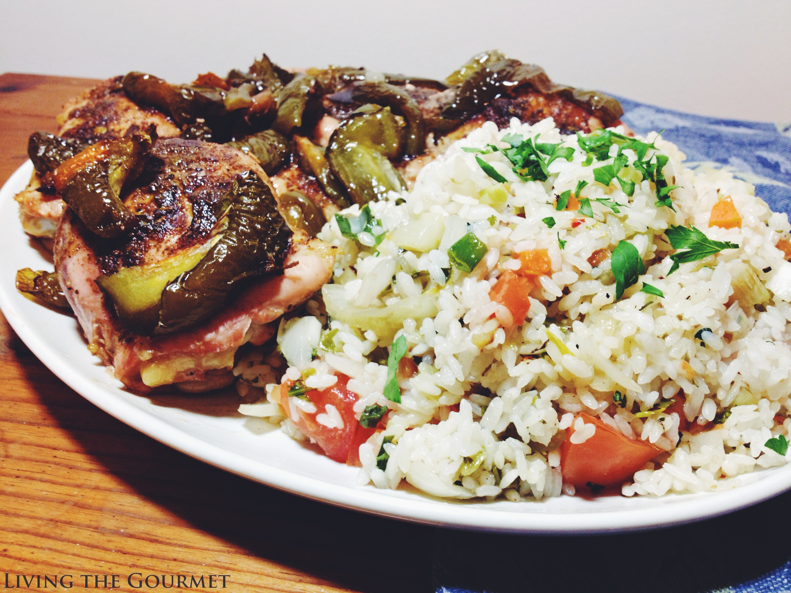 Living the Gourmet: Chicken with Peppers & Rice