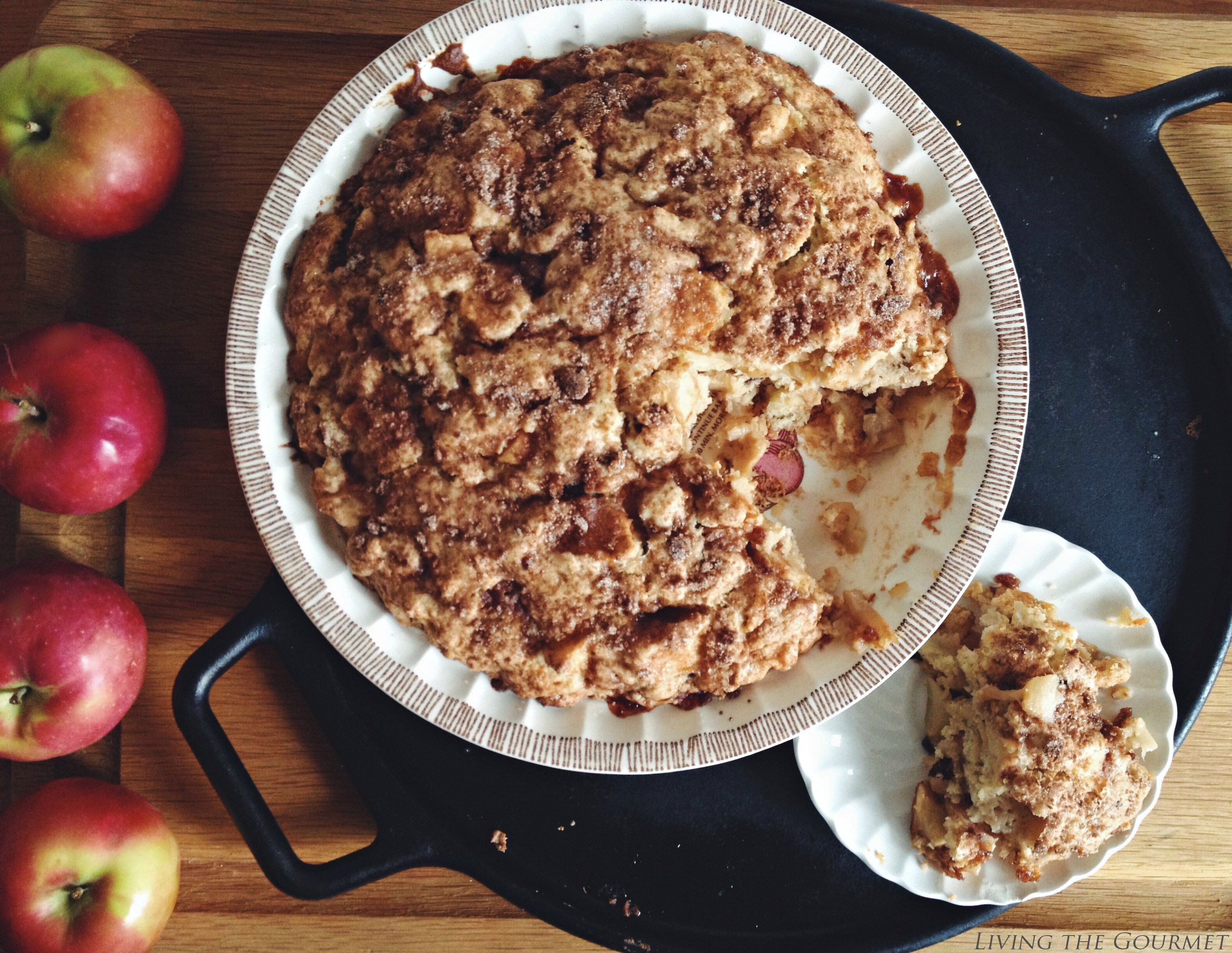 Living the Gourmet: Apple Chunck Breakfast Cake