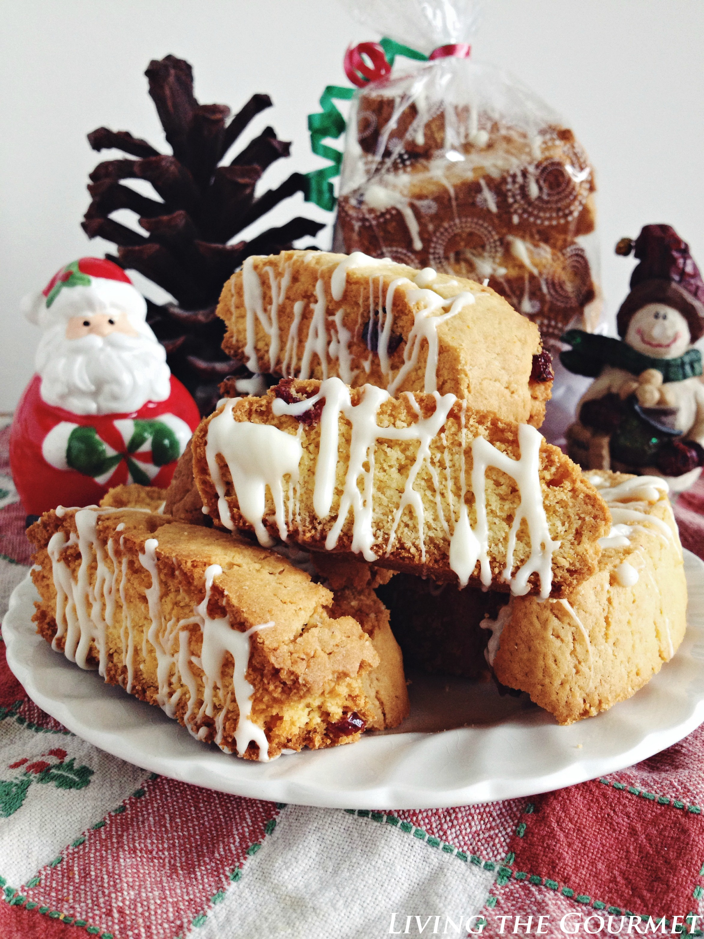 Cake Mix Biscotti w/ Craisins & White Chocolate