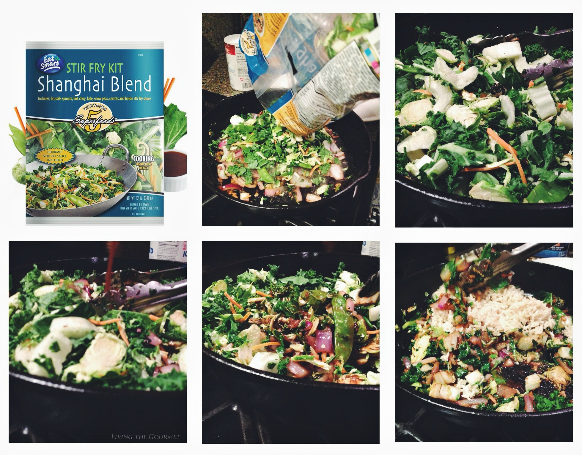 Living the Gourmet: Eat Smart®: Salad Kits Shanghai Blend Stir Fry Kit