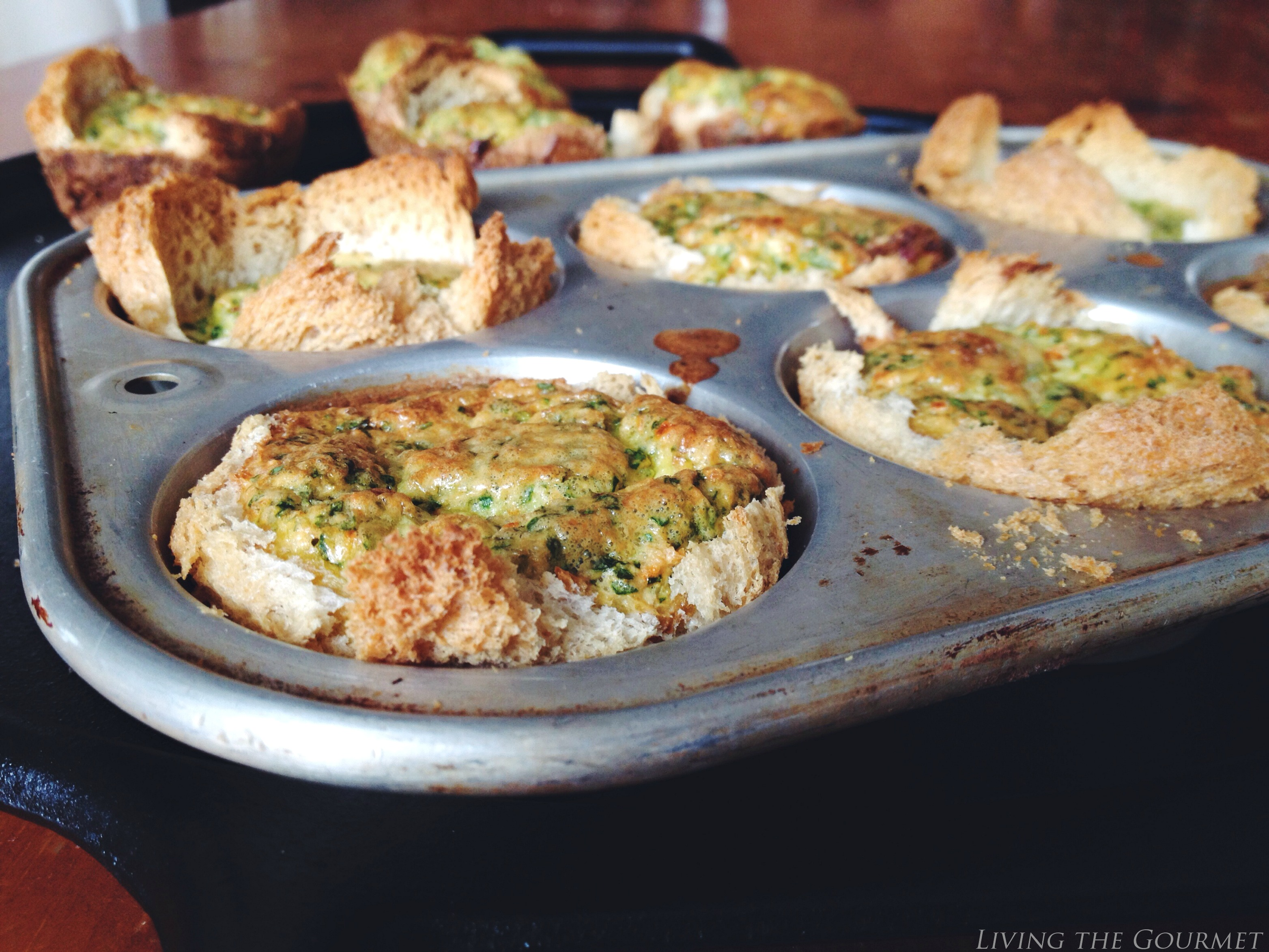 Living the Gourmet: Mini Egg Quiches