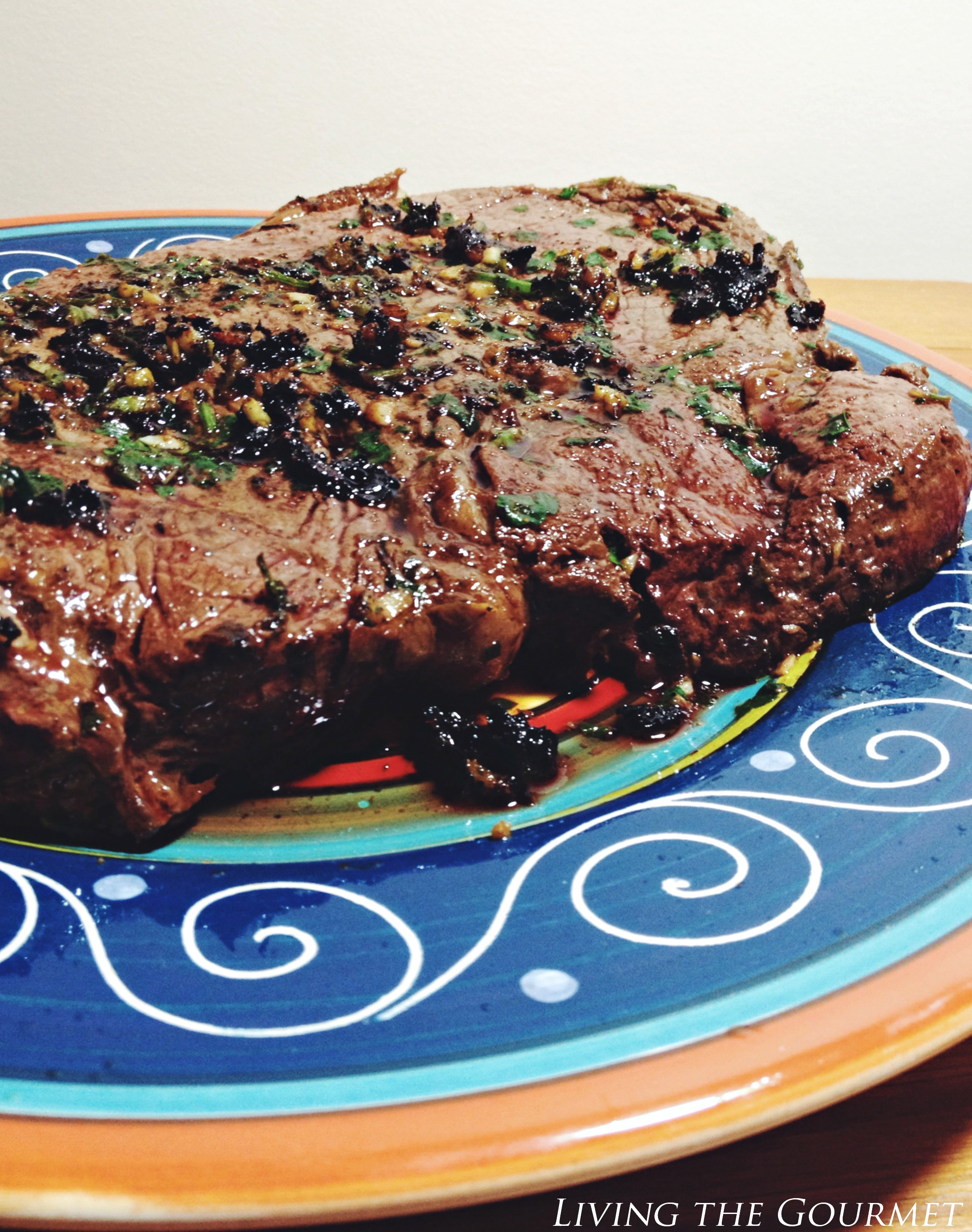 Living the Gourmet: Parsley Pesto Steak