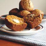 Spelt Carrot and Ginger Muffins